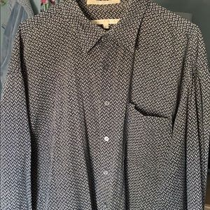 PERRY ELLIS patterned button up